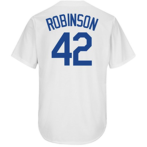 Outerstuff Jackie Robinson Brooklyn Dodgers #42 Youth Cool Base Home Jersey (Youth Small 8)