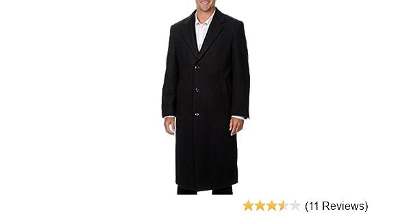 HATHAWAY PREMIUM Men/'s Wool /& Cashmere Italian Top Coat Size 40R Black NWOT