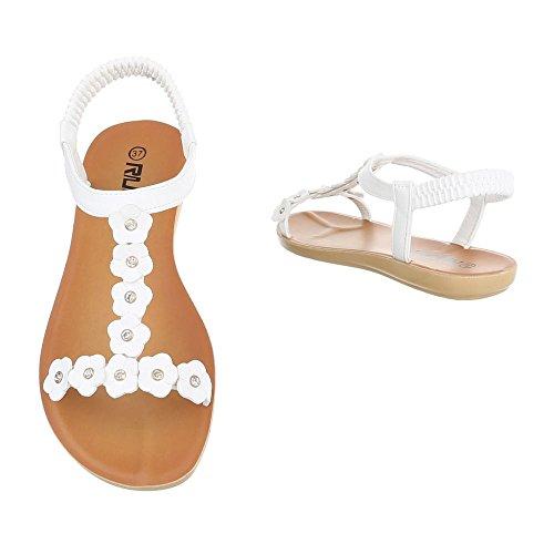 Ital-Design - Tira de tobillo Mujer Weiß
