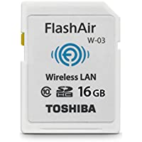 Toshiba Flash Air III Wireless SD Memory Card 16GB (PFW016U-1CCW)