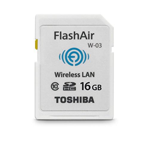 Toshiba Flash Air III Wireless SD Memory Card 16GB (PFW016U-1CCW)