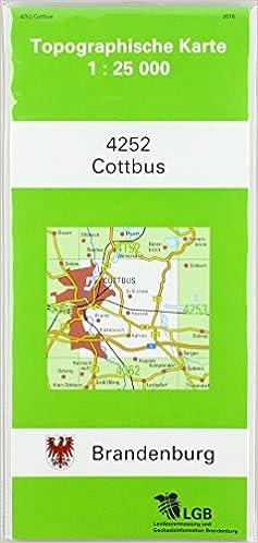 Land Brandenburg Karte.Cottbus Topographische Karten Atkis 1 25000 Tk25 A Land Brandenburg
