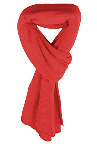 Ladies Ultrafine 100% Cashmere Scarf Wrap - Sorbet Red - made in Scotland by Love Cashmere RRP $400 by Love Cashmere