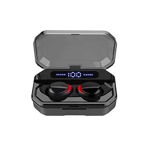 Docooler F8 Bluetooth 5.0 TWS Earbuds True Wireless Headphones Touch Control 1500mAh Charging Box Power Display IPX7…