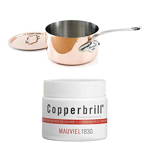 (Mauviel Copper Stainless Steel Saucepan w/Copperbrill Cleaner)