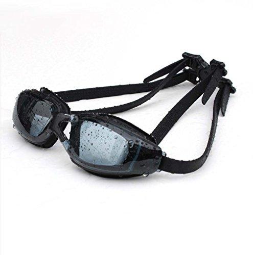 nhk HD Waterproof Myopia Swimming Goggles Anti-Fog Goggles Electroplating Big Box Male Ms (Black Non-Plated)