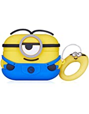 Joyleop Blue One Eye Case for Airpods 3/for Airpods Pro, Cute Character Silicone 3D Funny Cartoon Air pods Cover, Soft Kawaii Fun Cool Animal Skin Kits Carabiner, Unique Protective Cases for Airpod 3
