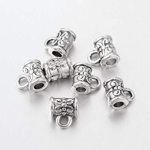 10 x Tibetan Silver Bail Bead Cup Hanger 6.5mm x 4.5mm