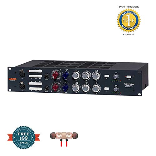Warm Audio WA273-EQ Dual-Channel Microphone Preamplifier and Equalizer includes Free Wireless Earbuds - Stereo Bluetooth In-ear and 1 Year EverythingMusc Extended Warranty