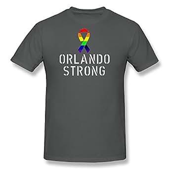 Orlando Strong Rainbow Ribbon Men's T-Shirt Black