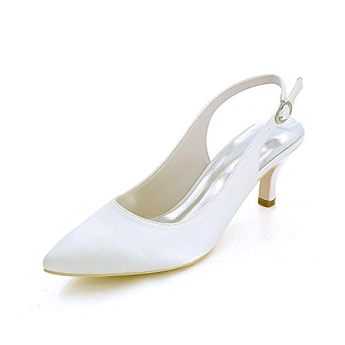 L@YC Women'S Wedding Shoes Comfortable & Silk Evening Dress / a Variety Of High-Heeled Color Customization White CaFWd4FGh7