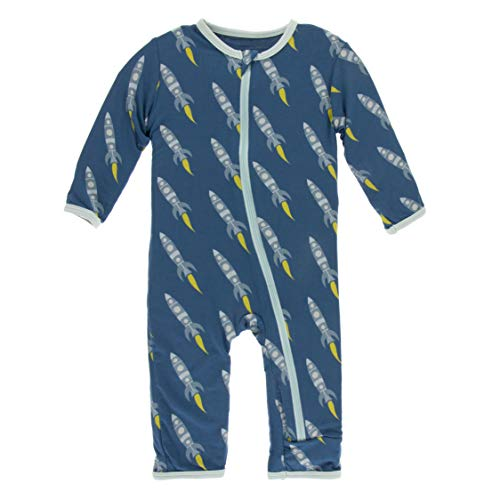 KicKee Pants Bamboo Coverall Pajamas with Zipper