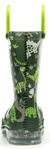 Pictures of Outee Kids Toddler Boys Rain Boots Waterproof BLP18ADNSGRN13 4