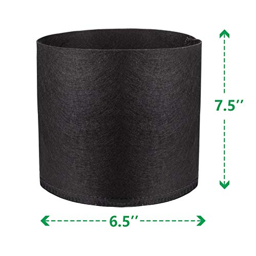 NA Plant Grow Bags NonWoven Garden Pot Vegetables/Flower/Plants Growing Bags with Handles Aeration Fabric Pots Container 1 Gallon and5 Gallon (1Gallon-5pack)