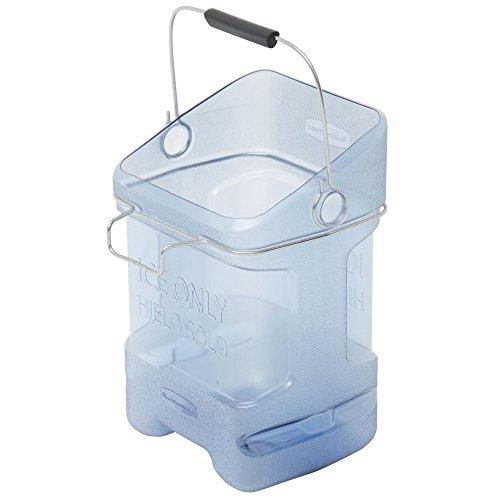 Bin Hook Adapter - Rubbermaid ProServe Blue Plastic Ice Tote With Bin Hook Adapter - 12
