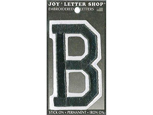 Joy JOY34002 Applique Letter Iron On Varsity Black B, 3