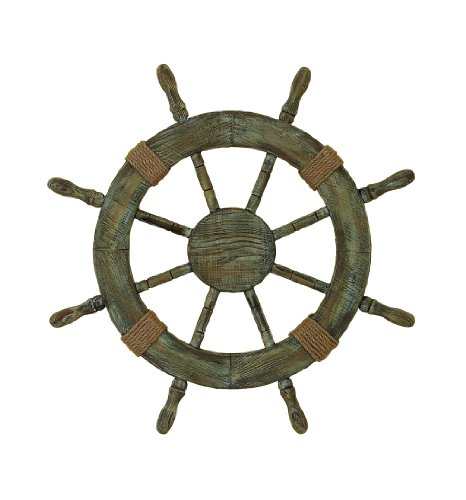 Deco 79 Wood Decorative Ships Wheel, 25-Inch For Sale