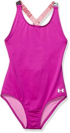 Amazon.com: Under Armour Girls' Racer One Piece Swimsuit