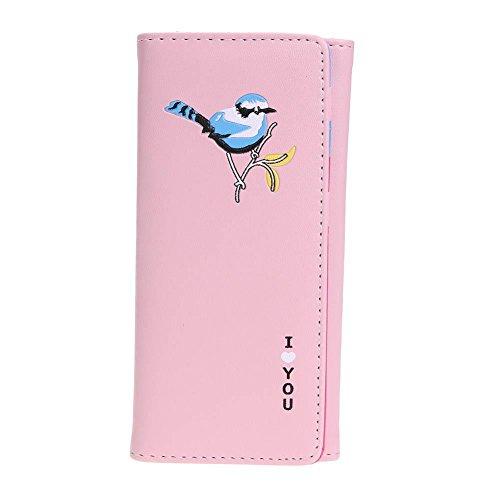 Card Holder Clutch FINIFLY Purse Long Wallet Bird Pink Coin tasteful��Women Cartoon Wallet PU Stylish Girl qS8zWc