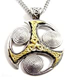Silver Insanity Ancient Triskilian Celtic Isle of Man Symbol Nordic Pendant Necklace