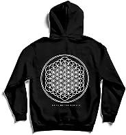 Bring Me The Horizon Men's Flower of Life Zippered Hooded Sweatshirt B