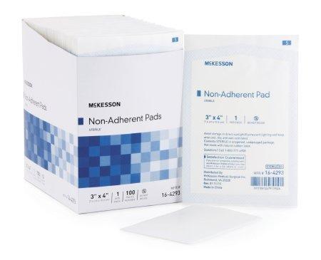 MCKESSON Non-Adherent Dressing Medi-Pak Performance Nylon / Polyester Blend 3 X 4