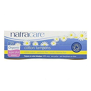 Natracare Organic Cotton Tampons, Super Plus 20 ea (Pack of 8) by Natracare