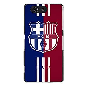 Exquisite Football Club Barcelona Cell Phone Case Famous Plastic Sony Xperia Z3 Compact (Z3 mini) Case with FC Team Series