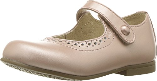FOOTMATES Girl's Emma Hook-and-Loop Perf Mary Jane (Toddler/Little Kid) Rose Gold ()