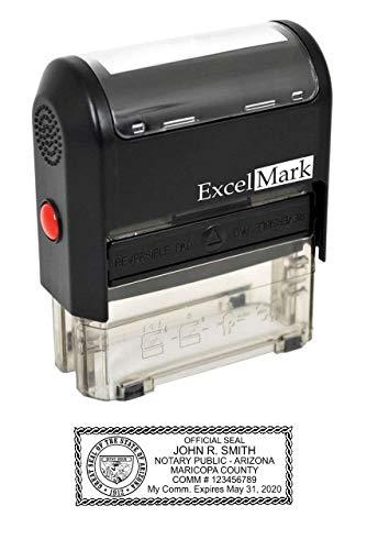 ExcelMark Self Inking Notary Stamp - Arizona