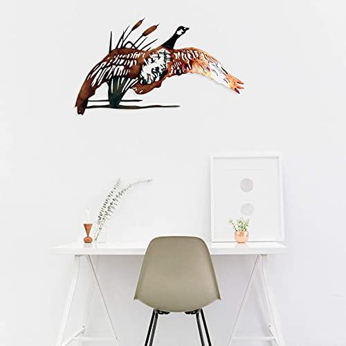 wSelio Metal Hummingbird Flower Wall Art Decor, Inspirational Wall Decor Sculpture Hanging Indoor Outdoor for Home, Bedroom, Living Room, Office, Garden (C-30x20cm)