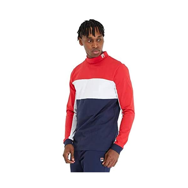 Fila Vintage Matteo High Neck T Shirt Red