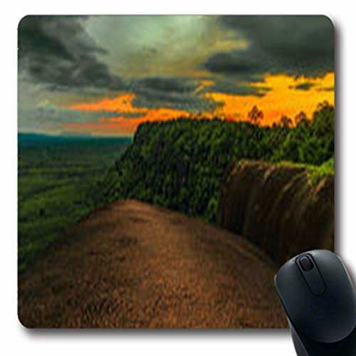 Pandarllin Mousepads Sunset Mountain Temple Tree Rock Whale Nature Parks Outdoor Oblong Shape 7.9 x 9.5 Inches Oblong Gaming Mouse Pad Non-Slip Rubber Mat ()