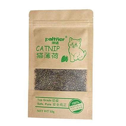 Cat Toys - Natural Organic Premium Catnip 10g Catmint Menthol Flavor Cat Treats Funny Toys Gatos