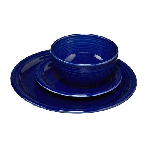 Cobalt Blue Dishes - Fiesta 105-1482 3 Piece Bistro Set, Cobalt
