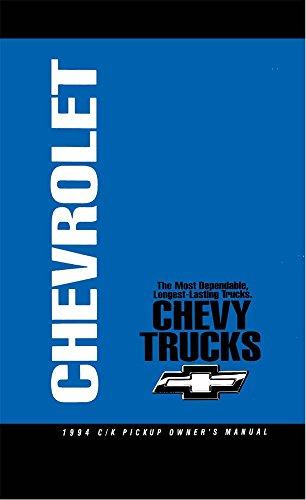 (bishko automotive literature 1994 Chevrolet C K Pickup Truck Owners Manual User Guide Reference Operator Book)