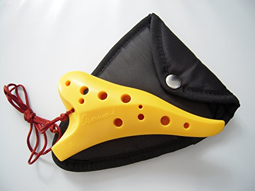 Sturdy Resin (Special Offer! Focalink Osawa 12 Holes Soprano C ABS Resin (Sturdy & Durable) Ocarina + Padded Ocarina Bag.- Easy to Learn, Good for Beginner & Great Gift! Linn's Arts (Yellow))