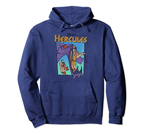 Disney Hercules Hydra Battle Retro Graphic Hoodie
