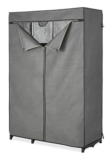 Whitmor COVER ONLY for Double Rod Closet with Heavy Duty Zipper - Gray -