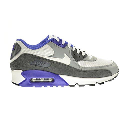 Nike Air Max 90 Essential Men's Shoes White/White-Silver-Dark Grey 537384-122 (12 D(M) US)