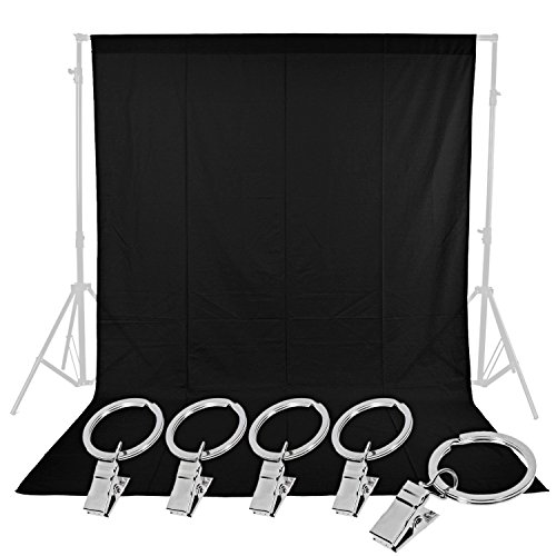 Neewer Photo Studio 6 x 9FT / 1.8 x 2.8M Pure Muslin Collapsible Backdrop with 5-Pack Spring Clamps for Photography,Video and Television