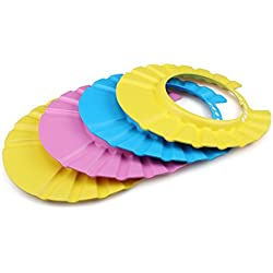4pcs Soft Adjustable Shower Cap