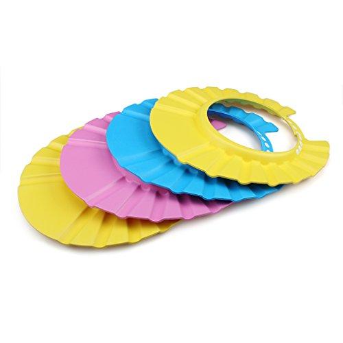 (EWIN(R) 4pcs Soft Adjustable Baby Kids Children Shampoo Bath Bathing Shower Cap Hat Wash Hair Shield Hat)