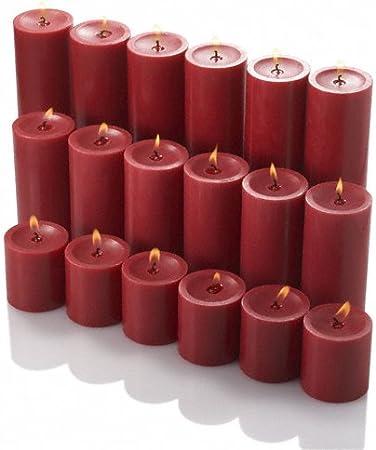 Richland Lot de 3/Verre Eastland Cylindre de vases et 3 Bougies Pilier 7,6/cm Noir