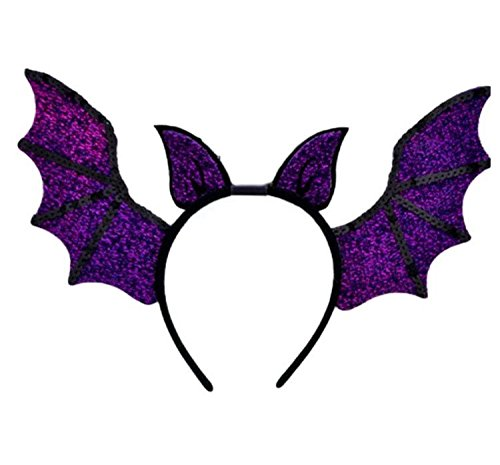 Bat Costume Ears (Halloween Costume Purple Batwing Headband)