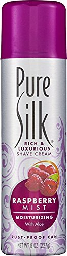 Pure Silk Shave Raspberry Size 8z Pure Silk Shave Strawberry Mst 8z