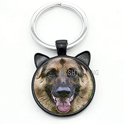 Key Chains - German Shepherd Keychain Newest Trendy Key Chain Keyring Car  Bags Key Holders Men f48b5e948