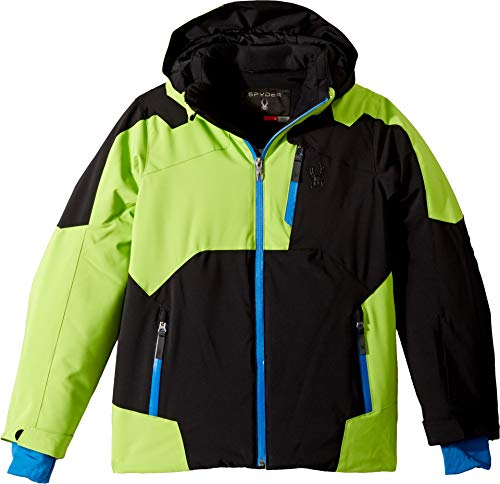 Spyder Kids Boy's Speed Jacket (Big Kids) Black/Fresh/Turkish Sea 14