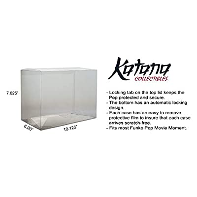 Katana Collectibles Protector Case Compatible with Funko POP Movie Moment Vinyl Figure - 2 Count: Toys & Games