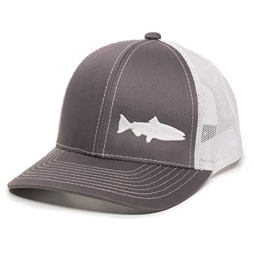 Fish Silhouettes Trucker Hat - Adjustable Baseball Cap w/Snapback ()